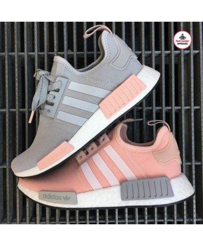 611d989b39162 Adidas NMD R1 Trainers In Pink Grey
