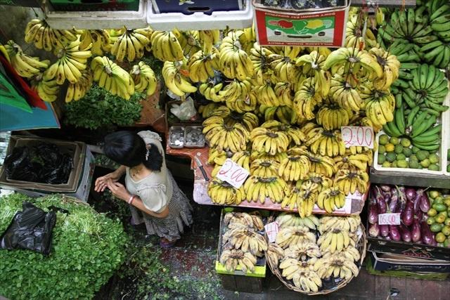 Bananas in Port Louis Market Mauritius
