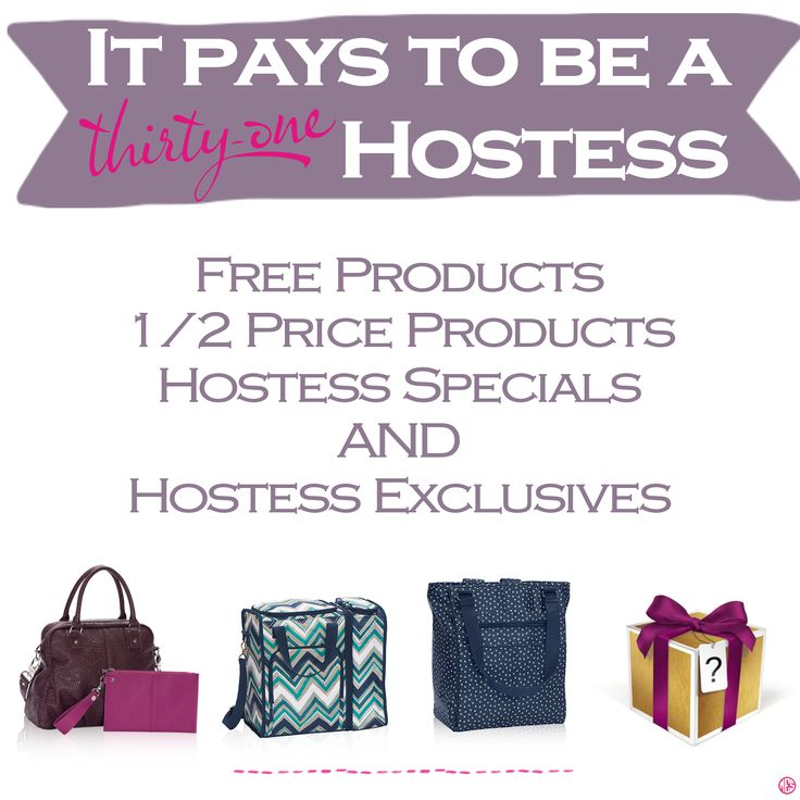 It pays to be a Thirty-One Hostess. Want to host a party? Contact me! www.mythirtyone.com/christinadowell
