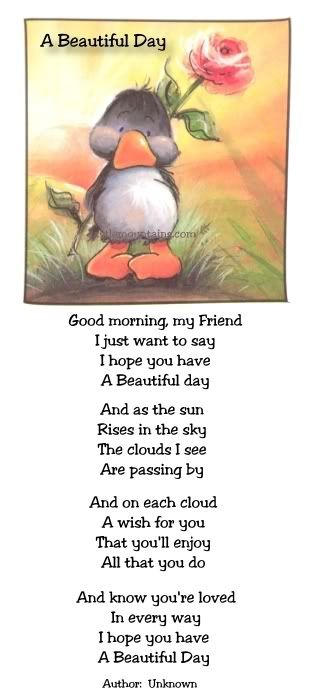 Have a beautiful day my beloved. I LOVE YOU! Thank you my sweet MCL. Love you too!