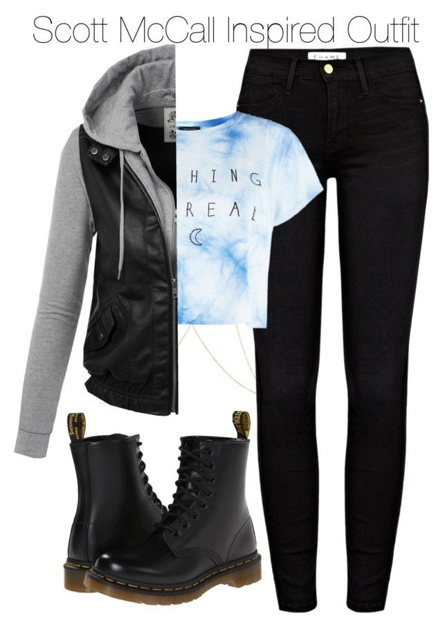 """""""Scott McCall Inspired Outfit"""" by staystronng ❤ liked on Polyvore featuring River Island, Frame Denim, Dr. Martens, tw and ScottMcCall"""