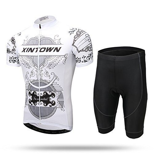 Product review for  Road Bicycle Racing Clothing Xintow Mens Cycling Jersey Short Sleeve Shirt Bib Shorts Sportwear Set White - As professional cycling brand, Around 696 cycling offers a wide selection of cycling sports liasfe including cycling apparel, protective gear, helmets and cycling accessories at high quality yet low price because we are also the manufacturer who can cut off all the middleman expenses. You can...