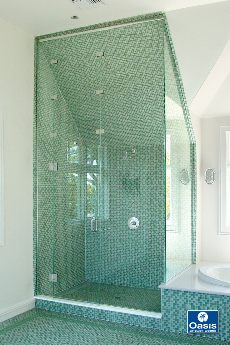 12 best images about custom frameless shower enclosures on for Custom transom