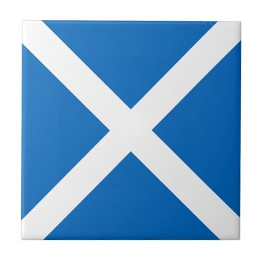 Scotland flag square tile
