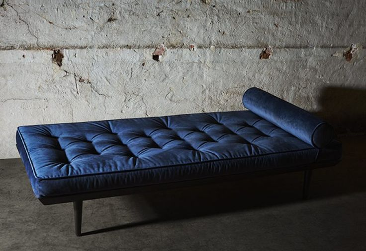 Layered's Ritzy Daybed Midnight Blue. Cushion is filled with regular foam and high resilience foam. See more at: http://layeredinterior.com/product/ritzy-daybed/