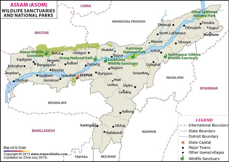 Image result for map marking national parks and rivers in india