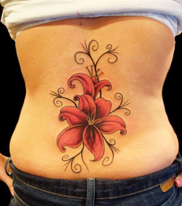 Tatouage Fleur De Lys Dos Hawaiiantattoos Hawaiian Tattoos