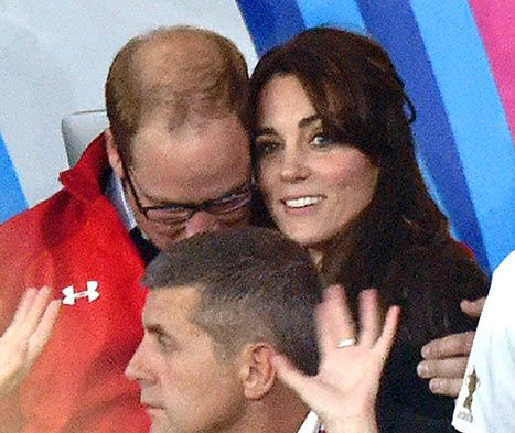 Kate Middleton and Prince William Cuddle After Rugby With Prince Harry - Us Weekly