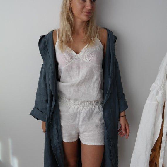 Ladies Satin Silk Pyjama Set Silky Lounge Wear Pyjamas Long Dressing Gown UK8-10