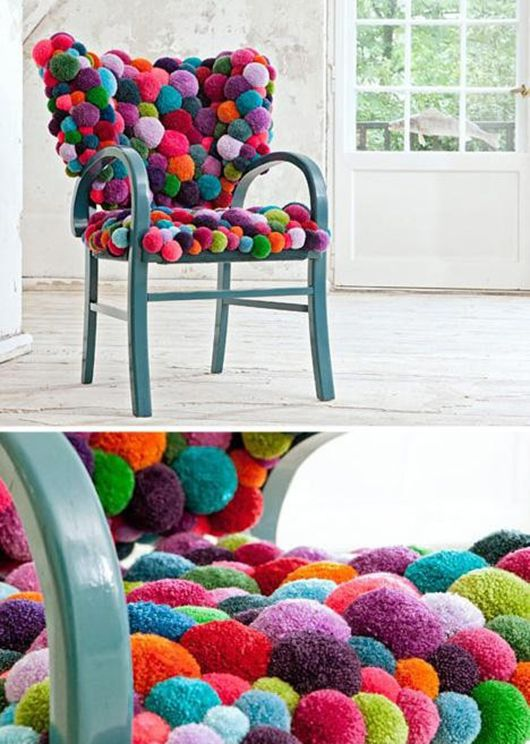 Colorful And Cozy Pompom Chairs And Rugs DigsDigs3