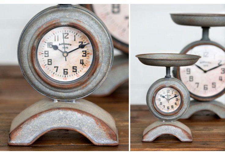 Scale Clock, Industrial Scale Clock, Decorative Scale Clock