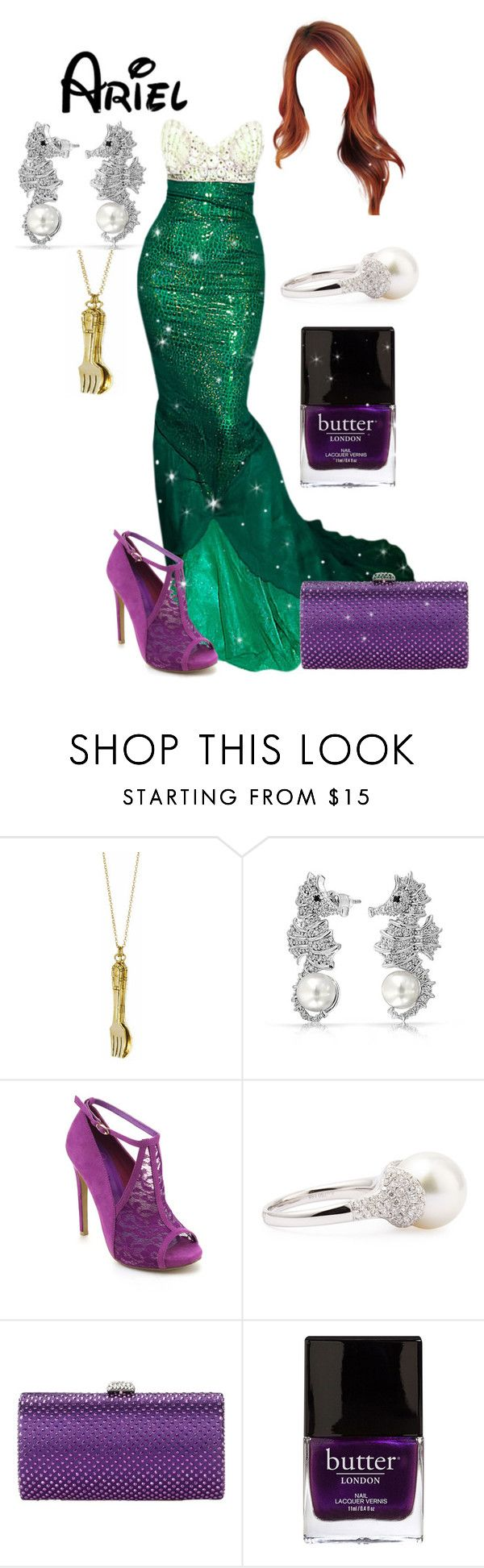 """""""Disney - Ariel"""" by briony-jae ❤ liked on Polyvore featuring Monserat De Lucca, Bling Jewelry, Eli Jewels, Magid and Butter London"""