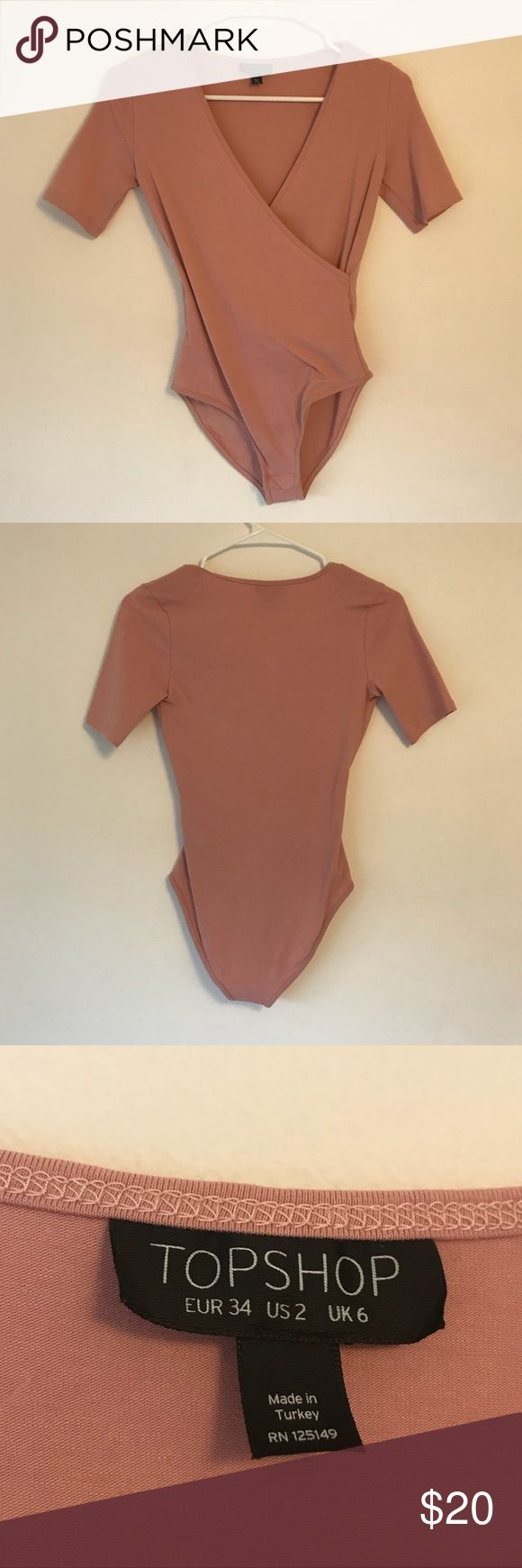 Ballet Pink Topshop Bodysuit Snap Closure Thai is in perfect condition, worn once but not my style anymore. Topshop Tops