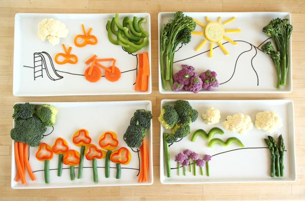 kids plates DIY: Fun Food, Idea, Plates, Play, Veggie, Food Art, Kids Plate, Kids Food