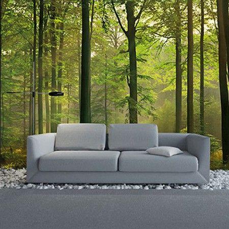 Mooie groene tinten voor bv de #woonkamer met dit #behang
