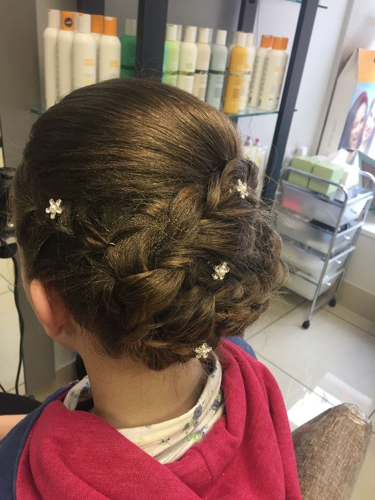 Upstyle for confirmation #young #hair