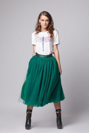 Happy Friday - Star of change- Emerald tulle skirt