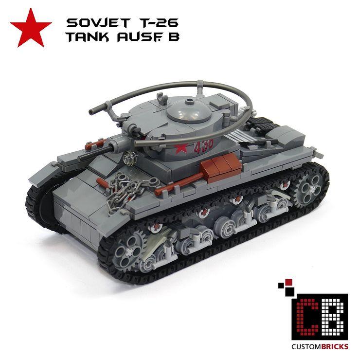 LEGO Custom WW2 WWII Panzer Tank Sovjet T-26 CB0