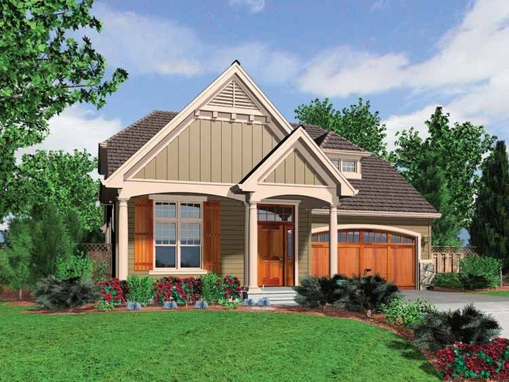 Best House Plans Images On Pinterest House Floor Plans - Craftsman house plans elevation