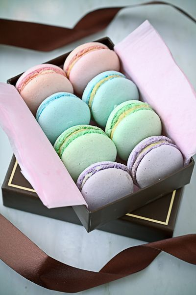 Lovely macaroons in pastels