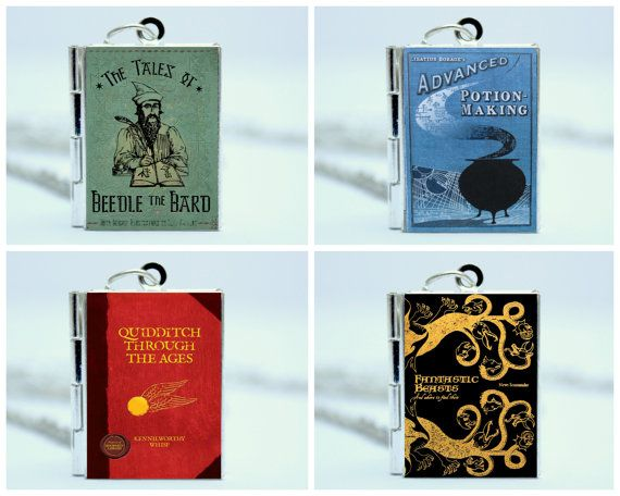 Harry Potter Book Locket Necklace Set  Tales by TheLocketLibrary