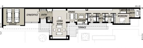 Long Home Plans House Plans Pinterest Narrow House
