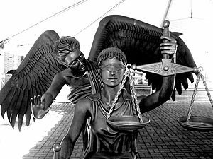 Lady Justice with Angel Baby