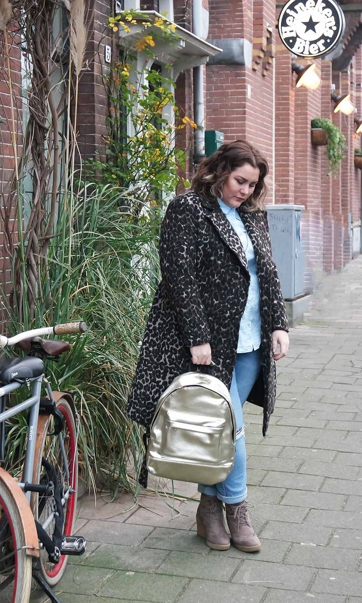 A true match don't you agree, leopard & gold    #2017 #amsterdam #backpack #blogger #Bonprix #curvy #giveaway #golden #golden bag #H&M #plus size #plussize #Yours Clothing #zizzi