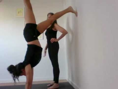 yoga handstands for beginners who are afraid of handstands - shana meyerson YOGAthletica - YouTube