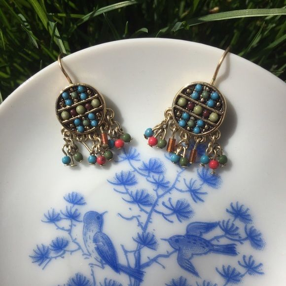 Lc LAUREN CONRAD Earrings Cute pair of tiny beaded dangling  Lc LAUREN CONRAD earrings. In excellent condition LC Lauren Conrad Jewelry Earrings