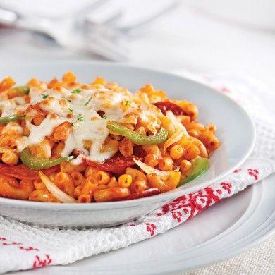 Macaroni style pizza - Soupers de semaine - Recettes 5-15 - Recettes express 5/15 - Pratico Pratique