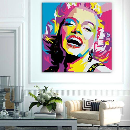 38 best tableau pop art images on pinterest pop art canvases and canvas. Black Bedroom Furniture Sets. Home Design Ideas