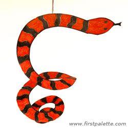 Paper Spiral Snake craft
