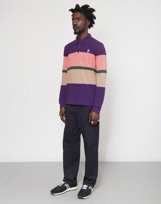 HUF Bayside Long Sleeve Polo Purple #StyleMadeEasy