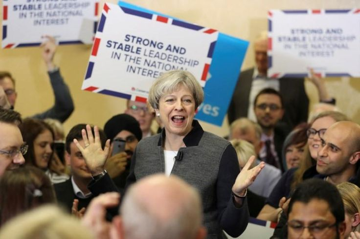 #world #news  UK PM May's Conservatives on 46 percent, Labour on 34 percent ahead of election: Orb poll