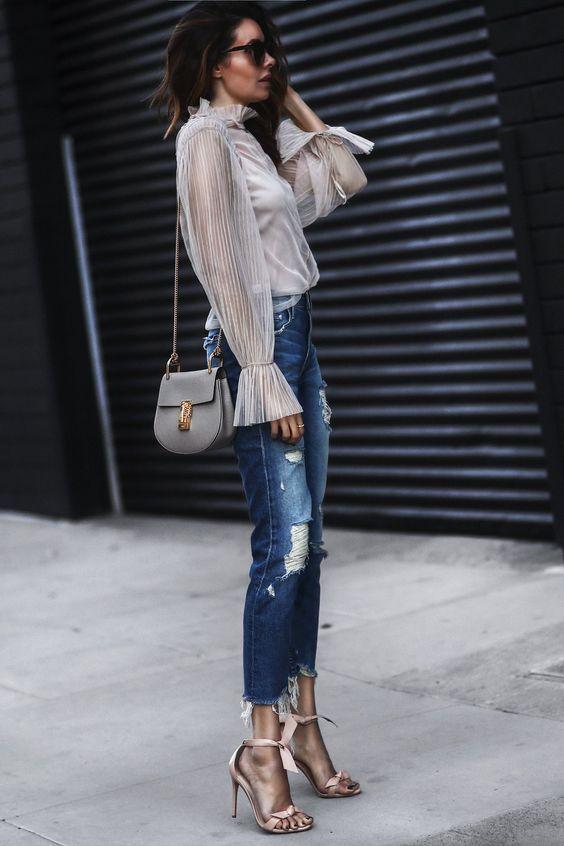 calça jeans, look chique, moda, estilo, inspiração, denim pants, chic outfit, fashion, style, inspiration