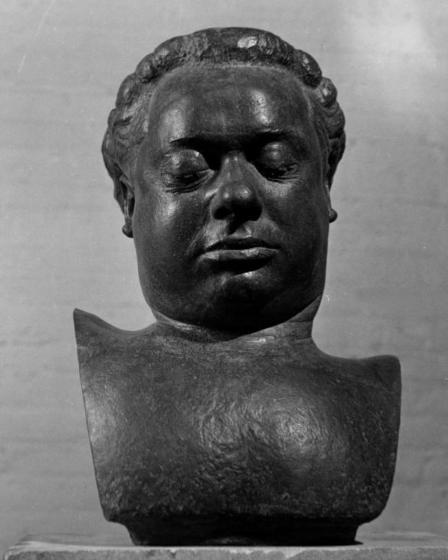 David Slika Dylan Thomas Death Mask Bronze