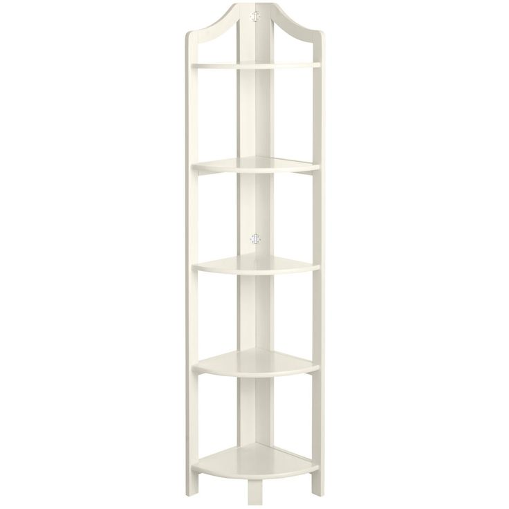 Clifton Antique White Tall Corner Shelf | Pier 1 Imports