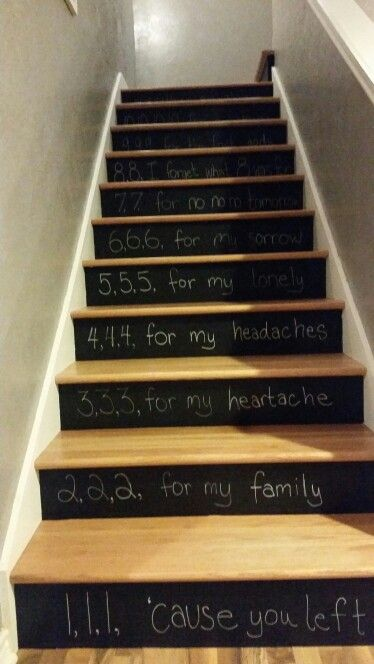 Violent Femmes Kiss Off lyrics :) stair risers chalk chalkboard