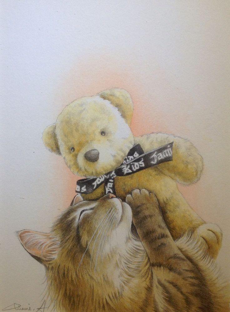 クマさんと一緒 by Chiemi Amano