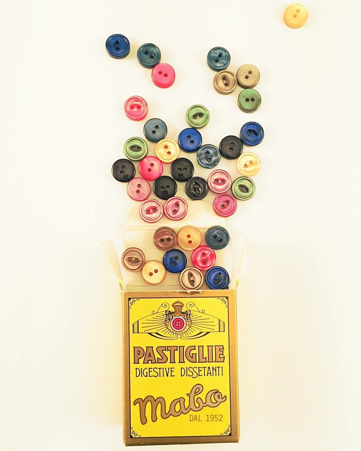 fresche, colorate, deliziose... Dal 1952, chicche per tutti i gusti ☺️  #mabo #mabofashion #buttons #flavours