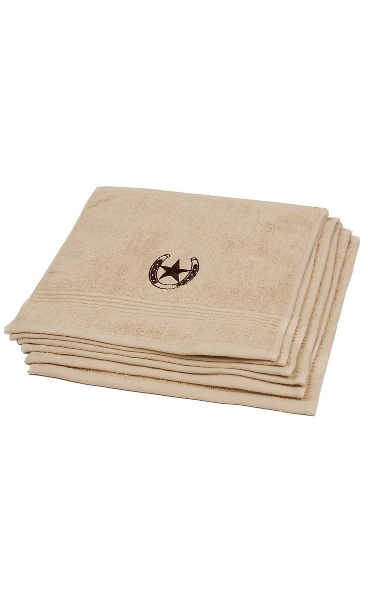 HiEnd Accents Chocolate Star Rug Westerns Towels And