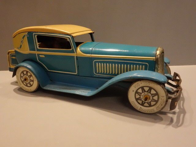 ALL ORIGINAL TIPP Co LARGE 2 DOOR COUPE CAR LITHO TIN 1930 GERMANY #TIPPCO
