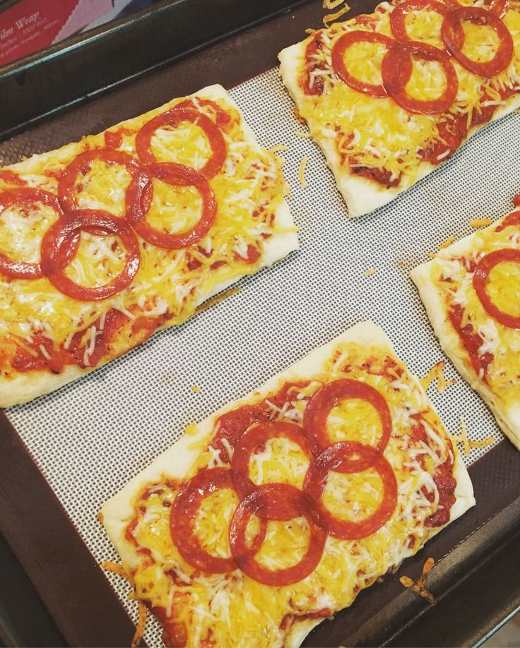 Olympic theme pizza!