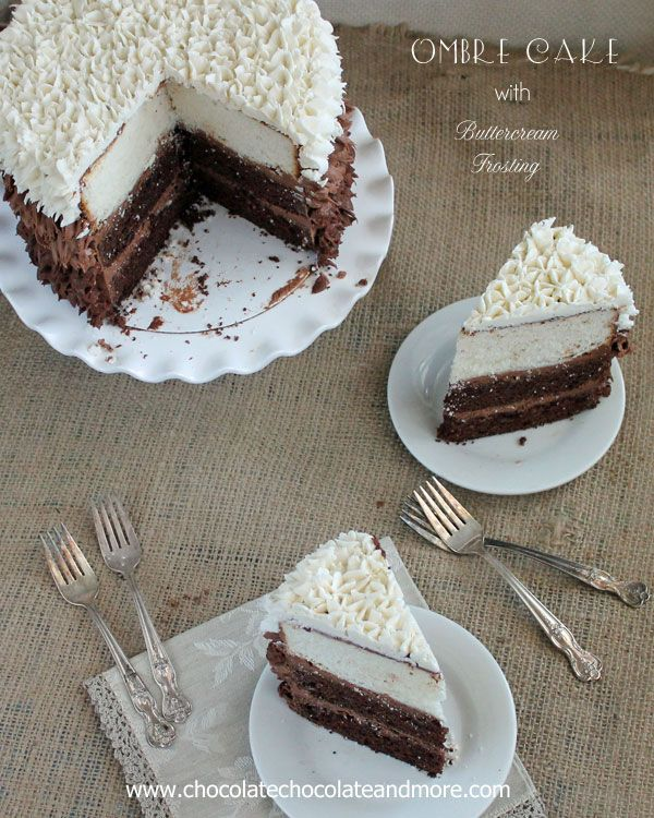 Vanilla and Chocolate layers come together in this Hombre Cake with Buttercream Frosting inspired by Surprise Inside Cakes