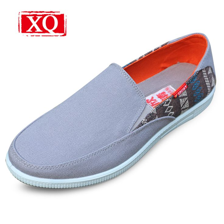 XQ Men's Casual shoes Breathable Old Beijing cloth shoes Comfortable flat shoes Driving non-slip light old man's plimsolls shoes #Affiliate