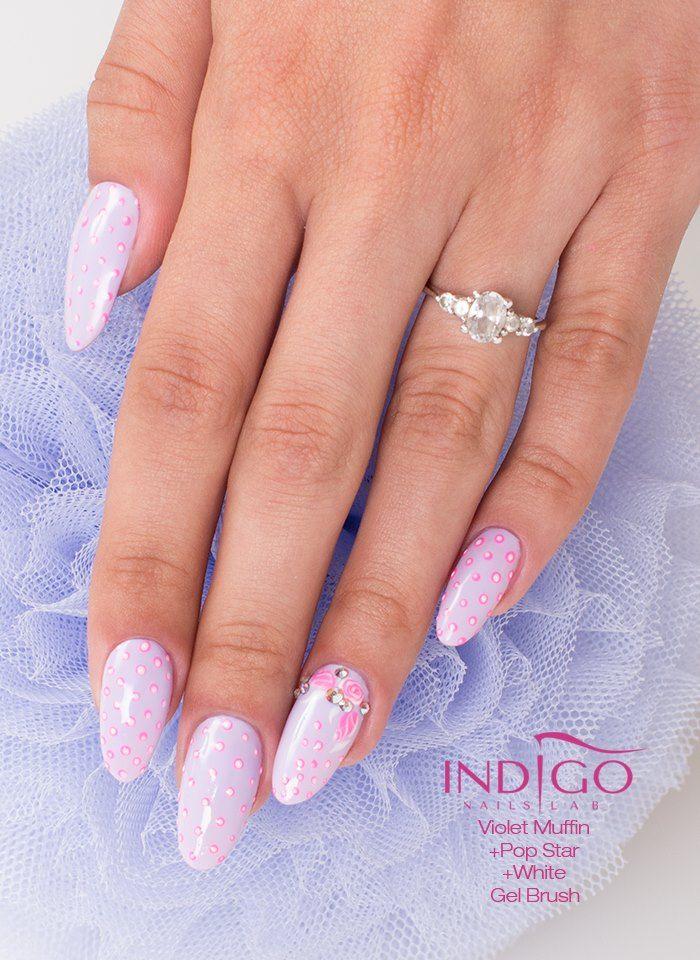 by Paulina Walaszczyk - Follow us on Pinterest. Find more inspiration at www.indigo-nails.com #nailart #nails #indigo #violet #pastel