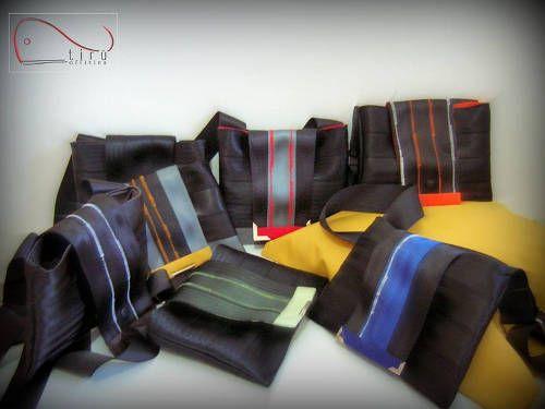 Tirù officina è un laboratorio artigianale di Carbonia dove Tiziana Serra cuce borse, borsette, borsoni con #tessuti di arredo e #cinture di sicurezza. #RicicloCreativo su @Marrai a Fura (sostenibilità e partecipazione)