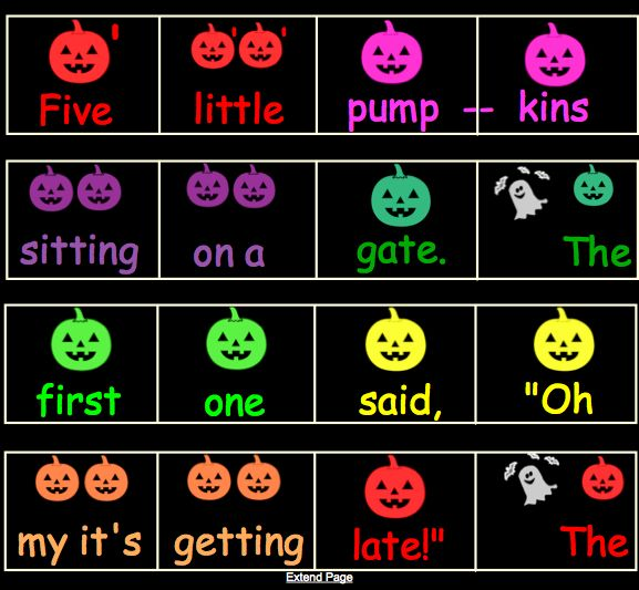 """SMART Board package for Five Little Pumpkins on Boomwhackers! Also includes composition pages, as well as Five Little Pumpkins notated on the music staff (with coloured pumpkins)!    The first page is just a simple page for singing the song. Tap on each """"thought"""" bubble and a picture appears as a hint for what that pumpkin says. At the end of the song, tap a pumpkin and they """"roll"""" out of sight!"""