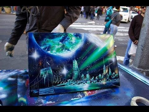 AMAZING New York City Spray Paint Art in Time Square 2014 SHARE :) - YouTube
